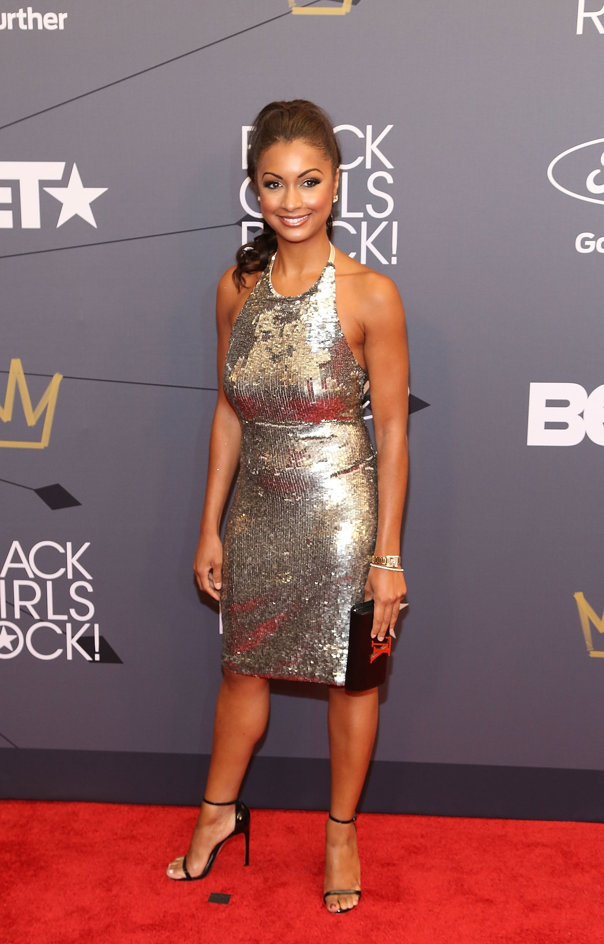 """Eboni K. Williams at the """"Black Girls Rock!"""" 2018 red carpet in Newark, New Jersey 