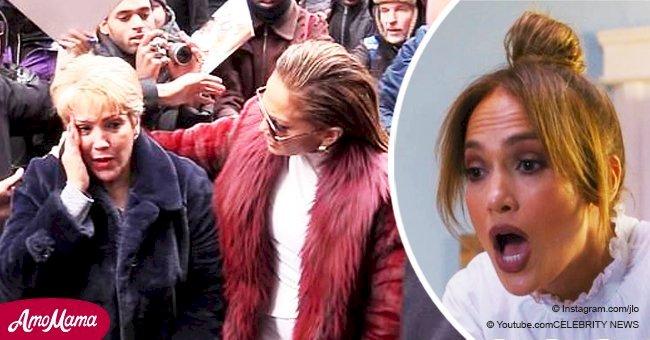 Jennifer Lopez's mom hit on the head by intrusive fan on the street