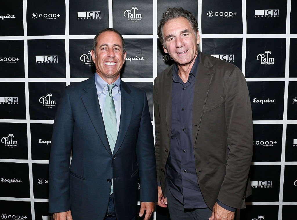 Jerry Seinfeld and Michael Richards in 2015. I Image: Getty Images.