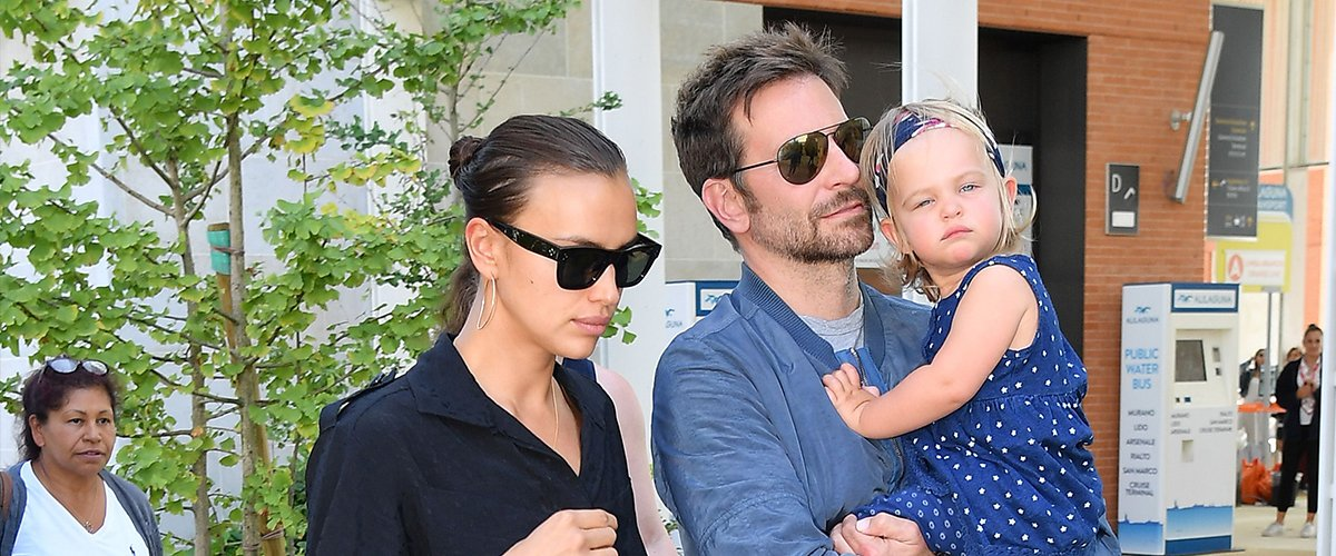 Bradley Cooper, Irina Shayk and their daughter Lea at the 75th Venice Film Festival on August 30, 2018   Photo: Getty Images