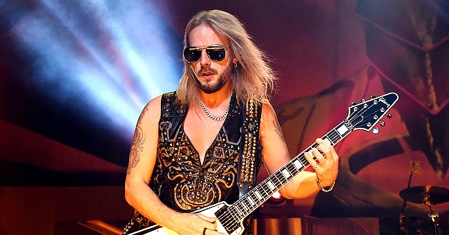 Guitarist Richie Faulkner performing on the final night of the band's Firepower World Tour at The Joint inside the Hard Rock Hotel & Casino on June 29, 2019 in Las Vegas, Nevada | Photo: Getty Images