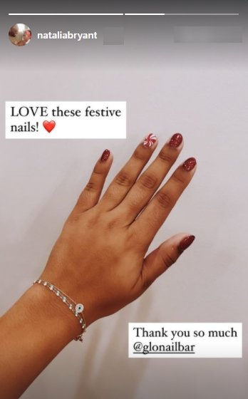 A picture of Natalia Bryant's beautiful manicure on Instagram   Photo: Instagram/nataliebryant