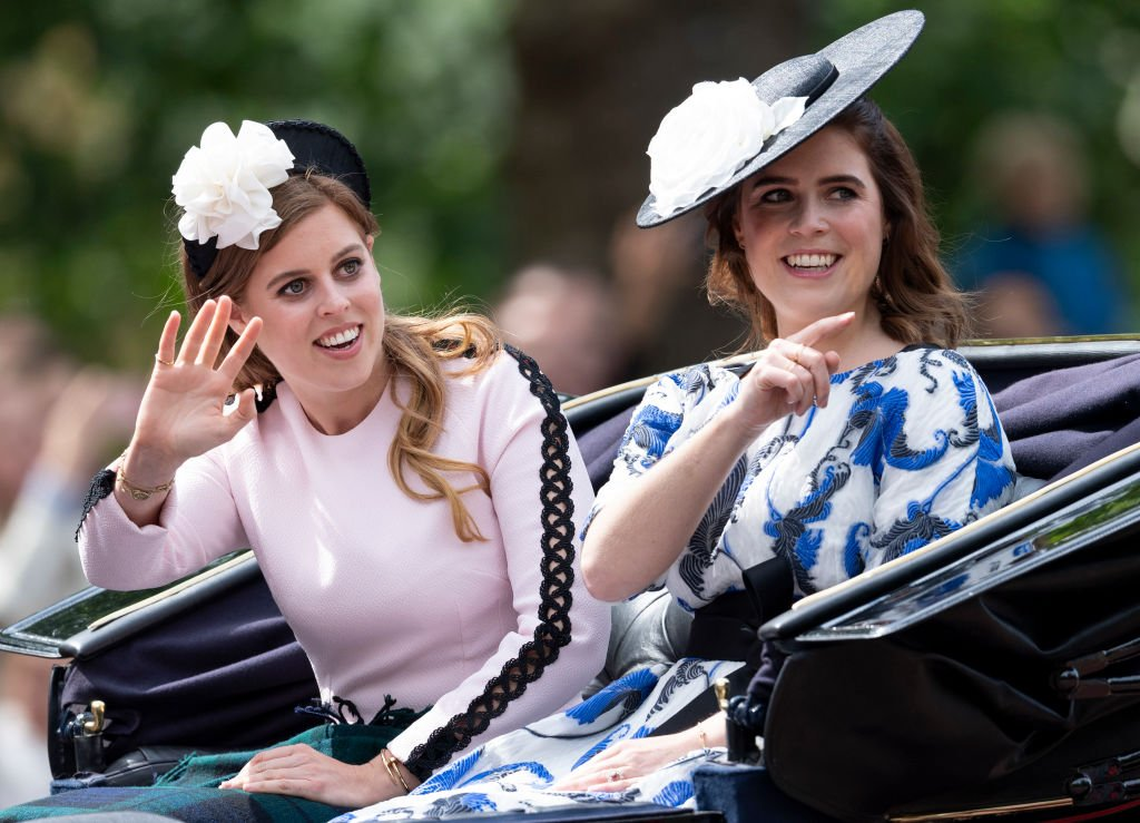 Princess Eugenie and Princess Beatrice during Trooping The Colour, the Queen's annual birthday parade, on June 8, 2019 in London, England. | Source: Getty Images