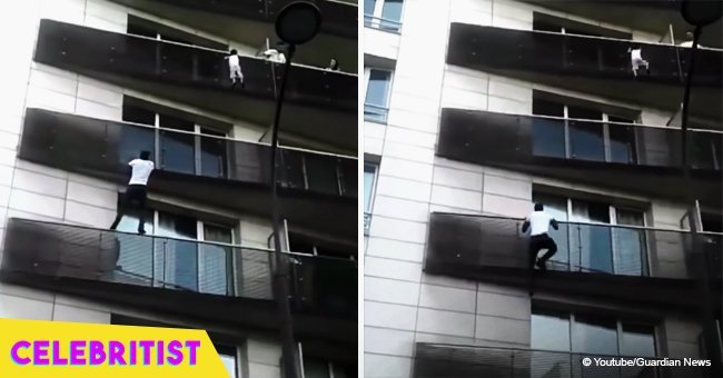 Young man scales 4 stories in 30 seconds to save 4-year-old child