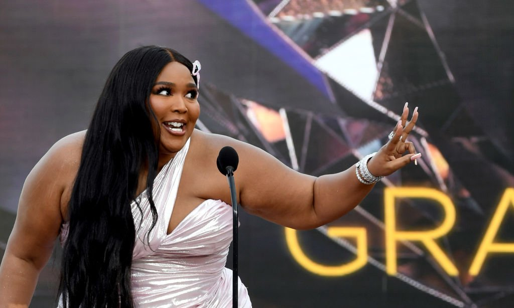 Lizzo speaks onstage during the 63rd Annual GRAMMY Awards, March 2021   Source: Getty Images