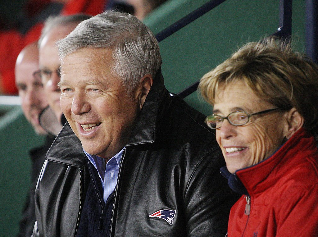 Bob Kraft and his wife, Myra, at Fenway Park Friday, October 12, 2007. | Photo: Getty Images