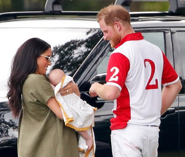 Meghan, Duchess of Sussex, Archie Harrison Mountbatten-Windsor and Prince Harry, Duke of Sussex attend the King Power Royal Charity Polo Match | Photo: Getty Images