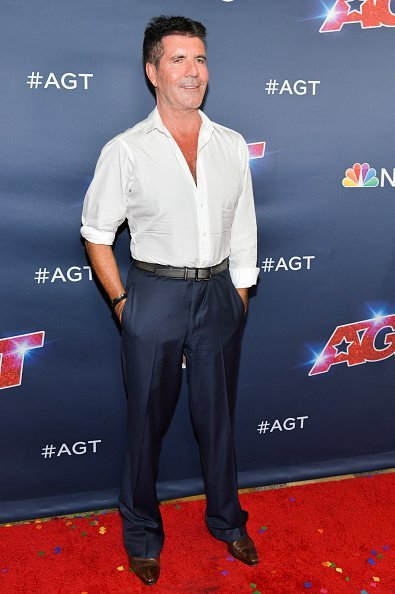 """Simon Cowell at the """"America's Got Talent"""" Season 14 Finale Red Carpet on September 18, 2019 