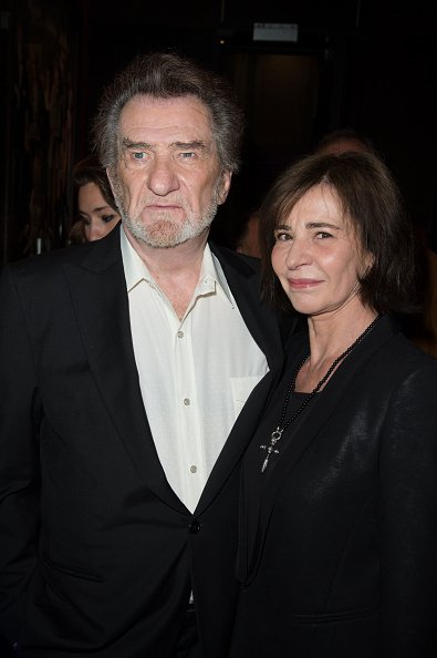 "Eddy Mitchell et Muriel Moine assistent à la ""Salaud On T'Aime"" : After Party. 