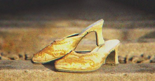 I noticed a pair of old-fashioned female shoes, neatly placed on a bridge | Photo: Shutterstock