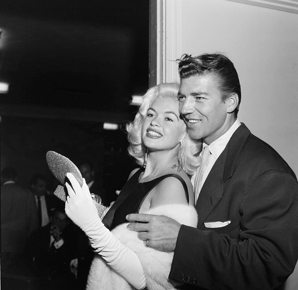 Actress Jayne Mansfield and Mickey Hargitay at the WAIF BALL in Los Angeles,California | Photo: Getty Images