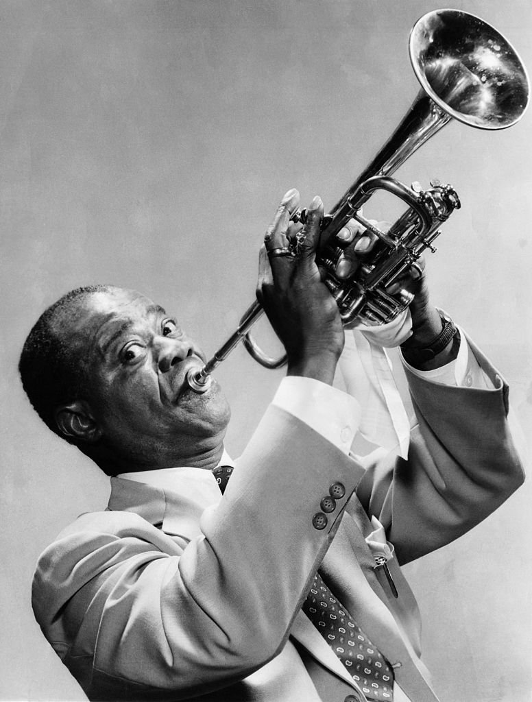 Louis Armstrong Playing the Trumpet,  January 01, 1940| Photo: Getty Images