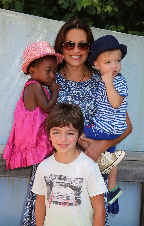 Mariska Hargitay and her three children | Photo: Getty Images