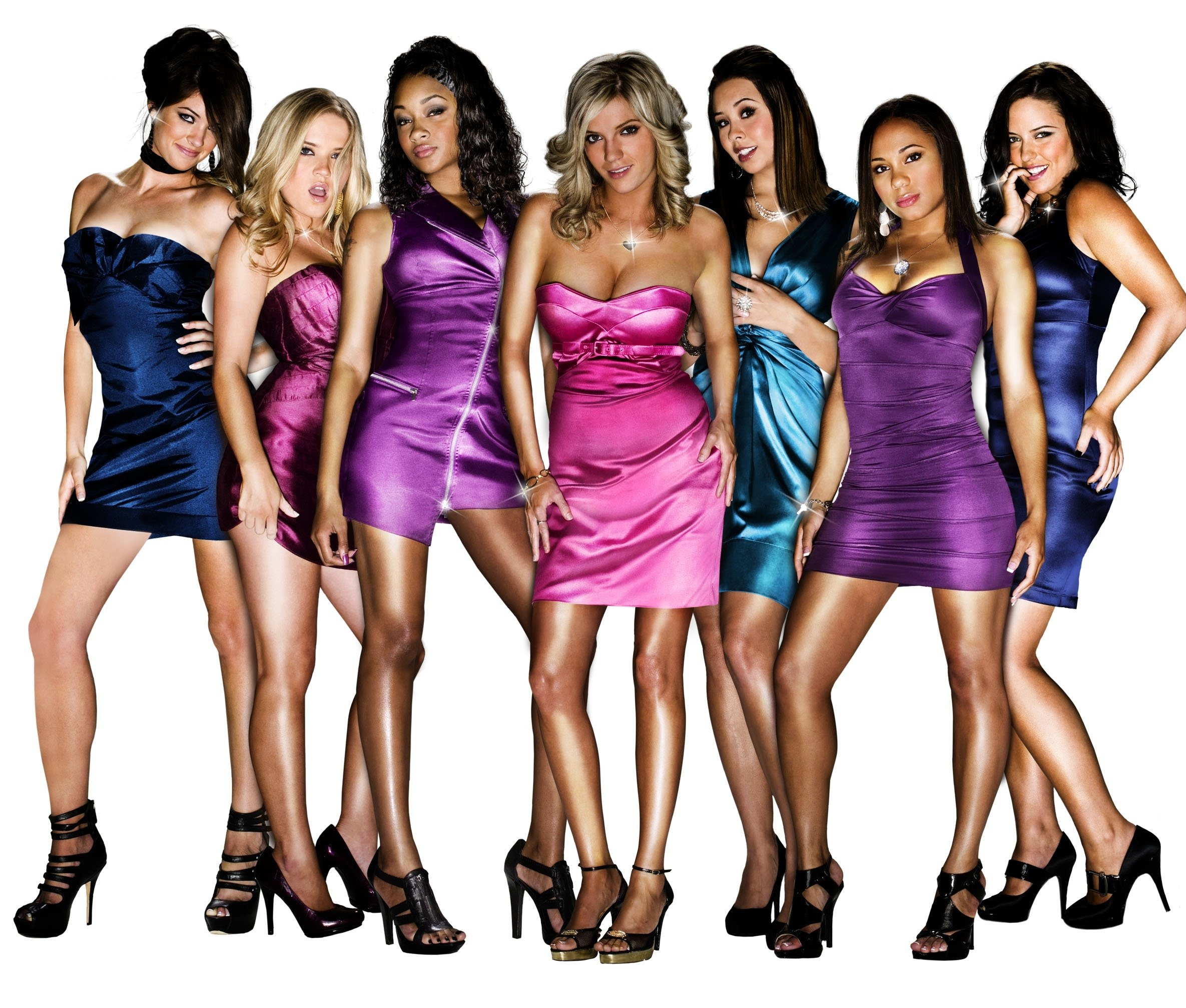 Bad Girls Club -- Season 3 -- Pictured: (l-r) Whitney Collings, Amber Meade, Kayla Carter, Amber Buell, Ailea Carr, Tiffany Davis, Sarah Frittitta | Photo: Getty Images