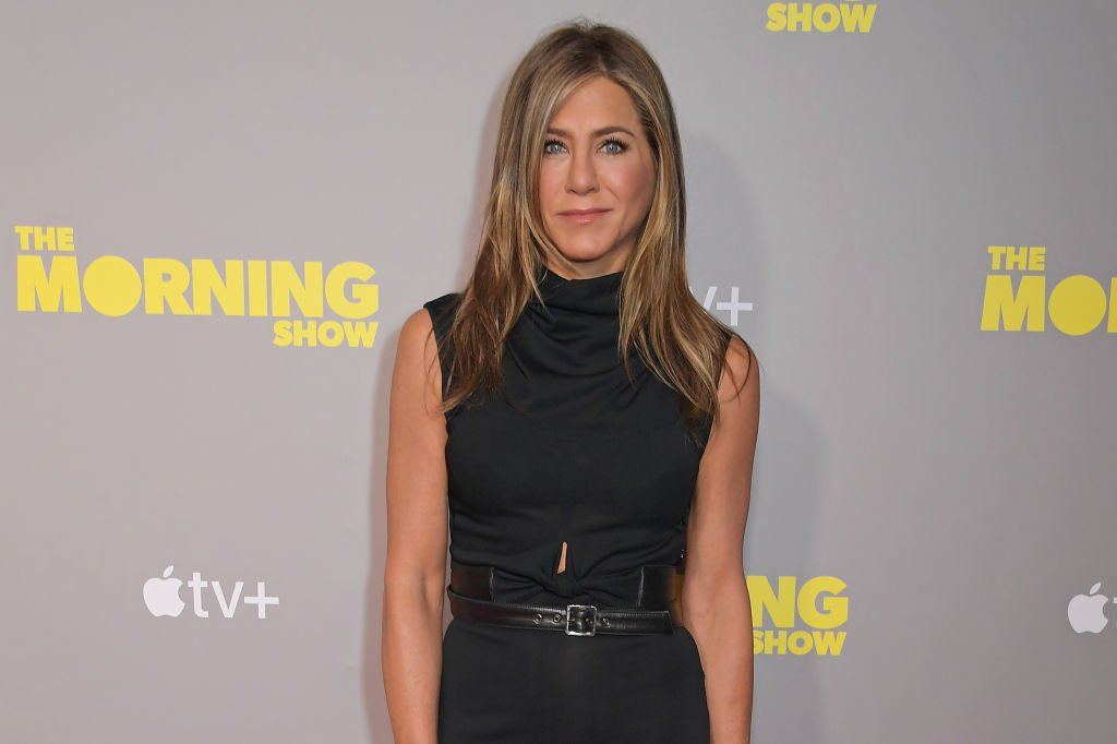 "Jennifer Aniston attends a screening of ""The Morning Show"" in London, England on November 1, 2019 