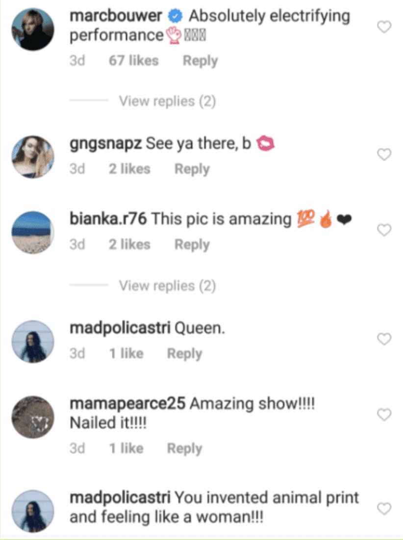 Followers of Shania Twain comment on her Instagram update. | Source: Instagram/shaniatwain