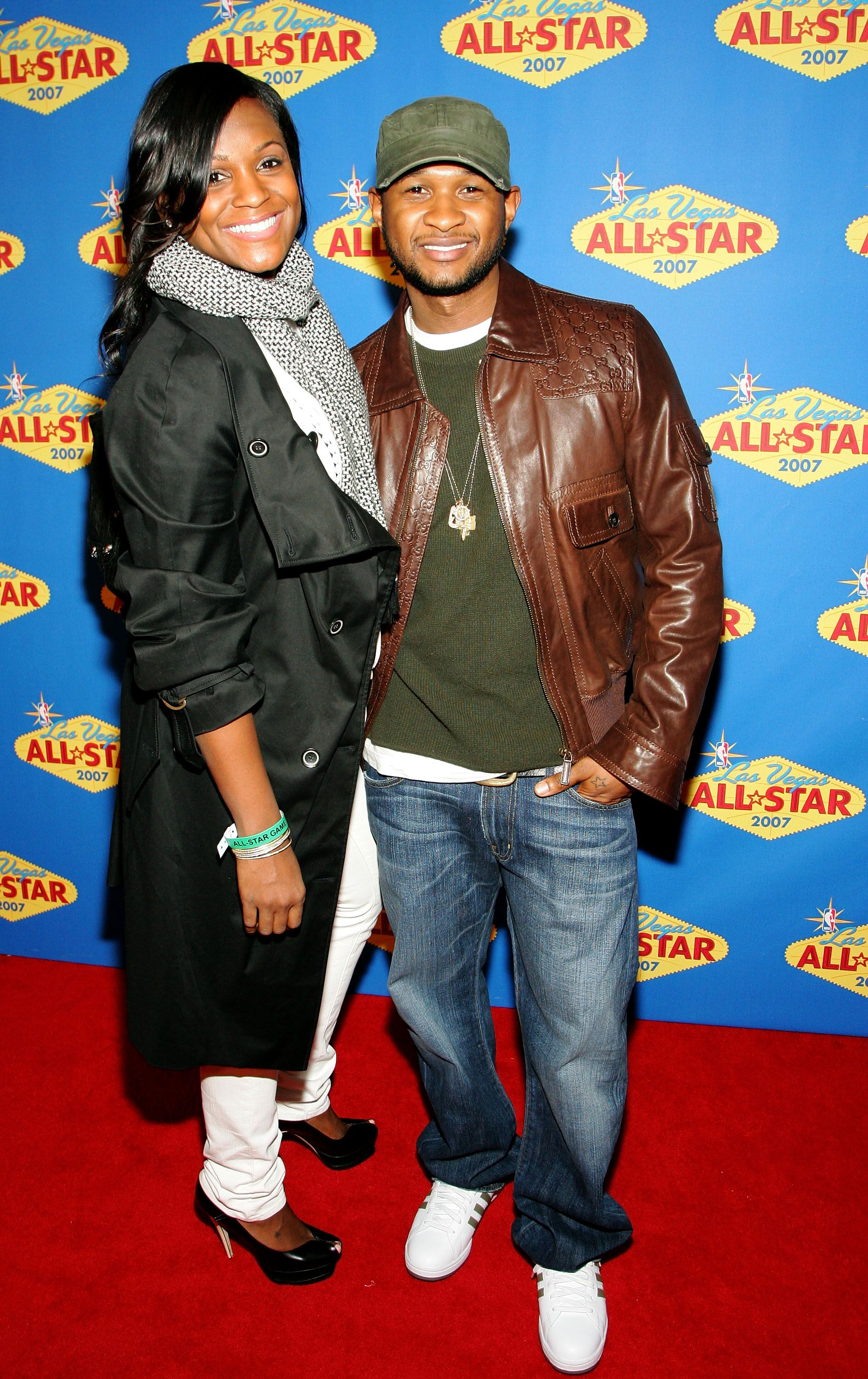 Usher and Tameka Foster at the 2007 NBA All-Star Game in Las Vegas in 2007 | Source: Getty Images