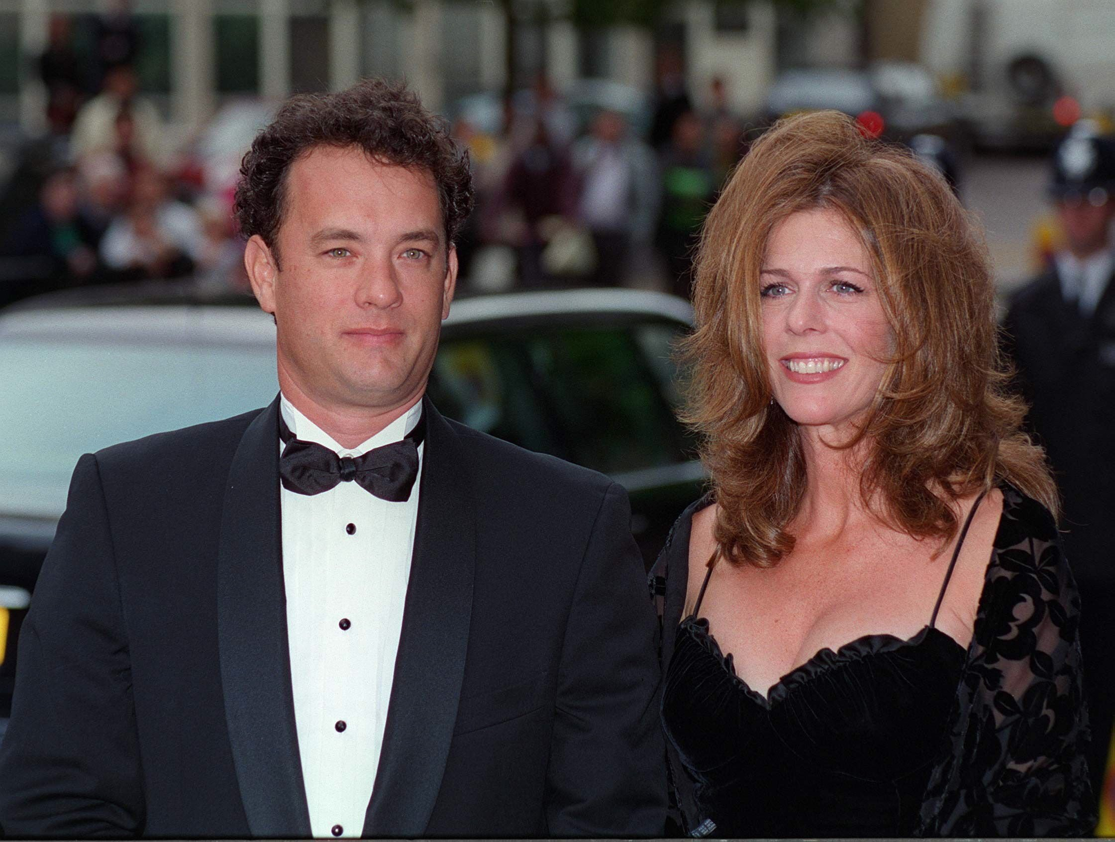 "Tom Hanks And His Wife, Rita Wilson, At The Film Preview Of  ""Apollo 13."" 