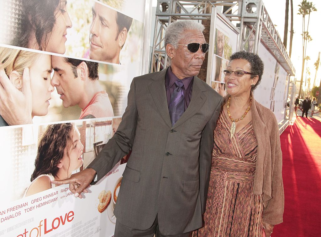 "Morgan Freeman and  Myrna Colley-Lee arrive at the premiere of MGM's ""Feast of Love"" at the Academy of Motion Picture Arts and Sciences on September 25, 2007. 