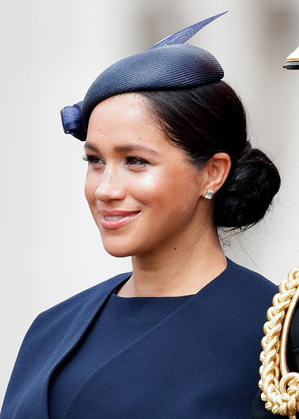 Meghan Markle travels down The Mall in a horse drawn carriage during Trooping The Colour on June 8, 2019 in London, England | Photo: Getty Images