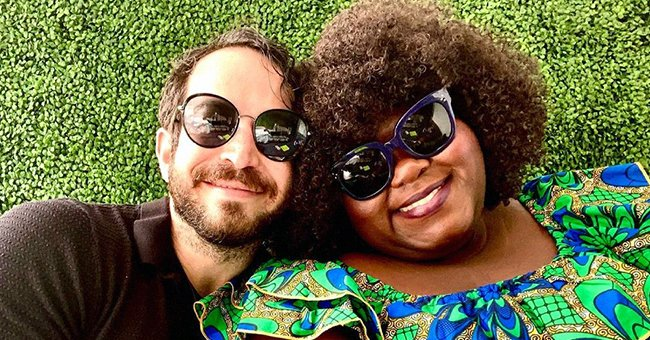 Gabby Sidibe & Fiancé Brandon Frankel Share PDA Moment While She Slays in Blue Floral Dress in Pic