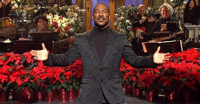 "Eddie Murphy hosting the last episode of ""Saturday Night Live"" in 2019, 35 years affer leaving the show 