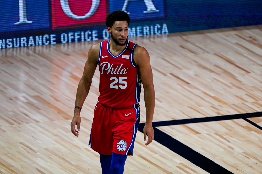 Ben Simmons during the game against the Washington Wizards at The Arena at ESPN Wide World Of Sports Complex on August 5, 2020. | Photo: Getty Images