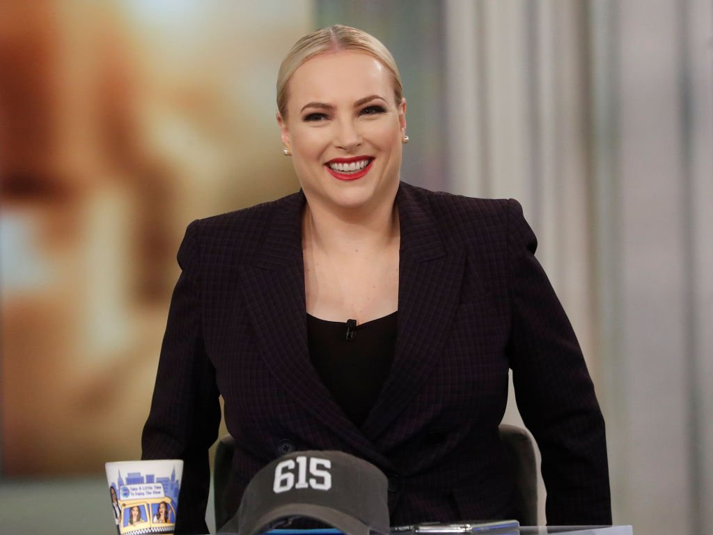 """Meghan Mccain on the set of """"The View"""", March 2020 