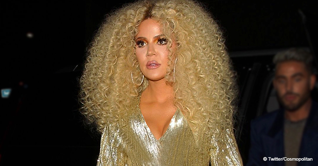 Khloé K. Dazzles in Gold Gown & Hair à La Diana Ross While Attending Singer's 75th Birthday Party