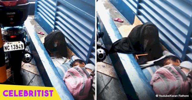 Homeless girl, 8, went viral for struggling to do her homework despite rainstorm