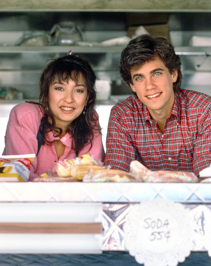 Elizabeth Pena (as Officer Connie Rivera) and Robby Benson (as Detective Cliff Brady) in TOUGH COOKIES. March 5 1986. | Source: Getty Images