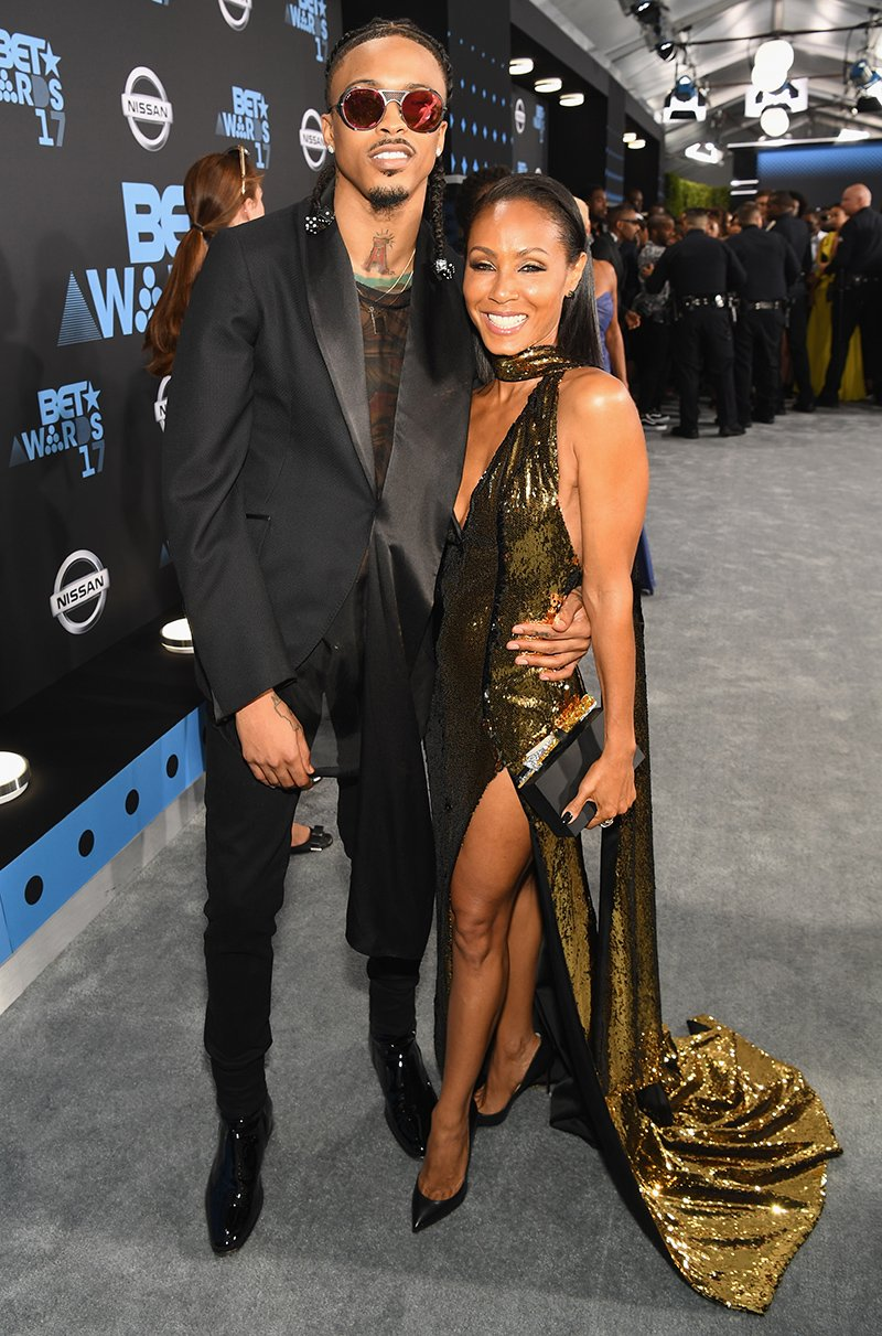 August Alsina and Jada Pinkett-Smith at the 2017 BET Awards at Staples Center on June 25, 2017 in Los Angeles, California. I Image: Getty Images.