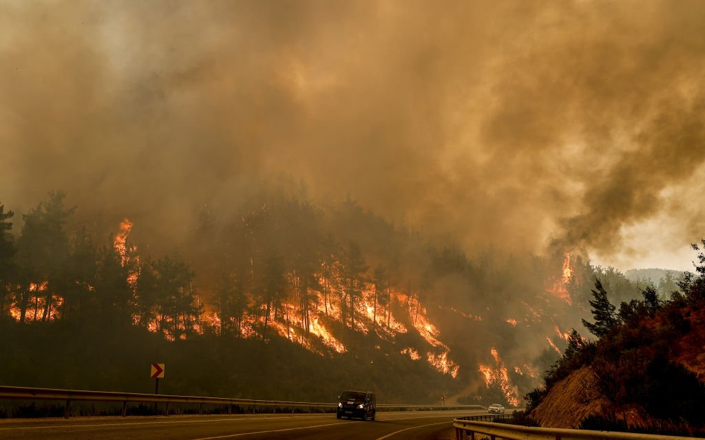 Forest fires in Antalya, Turkey. August 2, 2021 | Source: Getty Images
