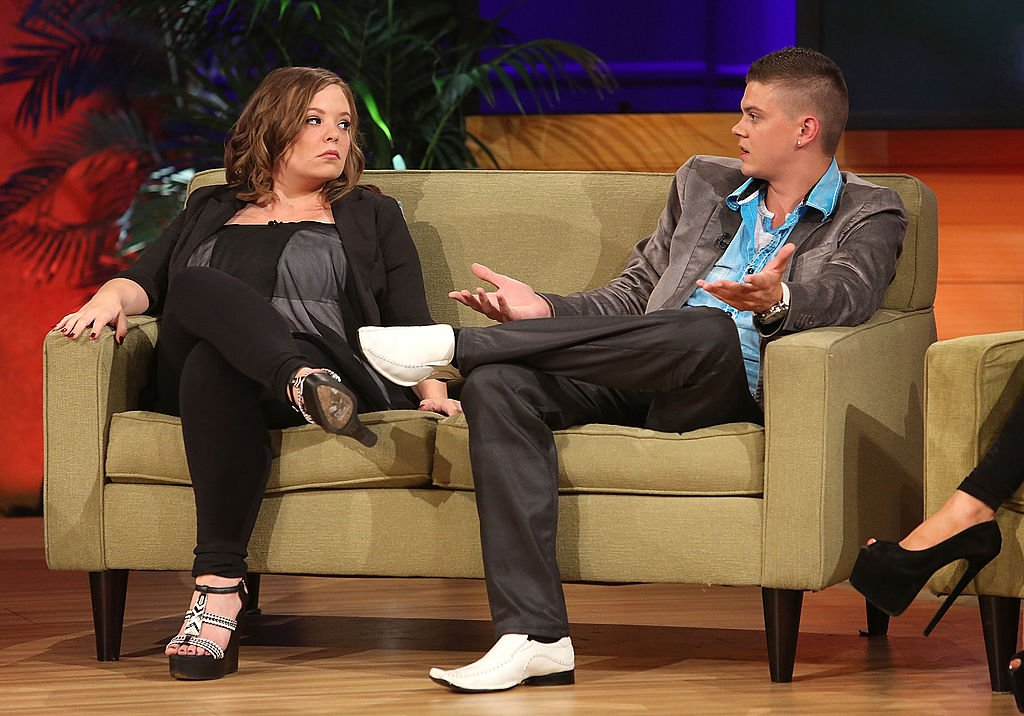 """TV personalities Catelynn Lowell and Tyler Baltierra attend the VH1 """"Couples Therapy"""" With Dr. Jenn Reunion at GMT Studios on August 8, 2014 