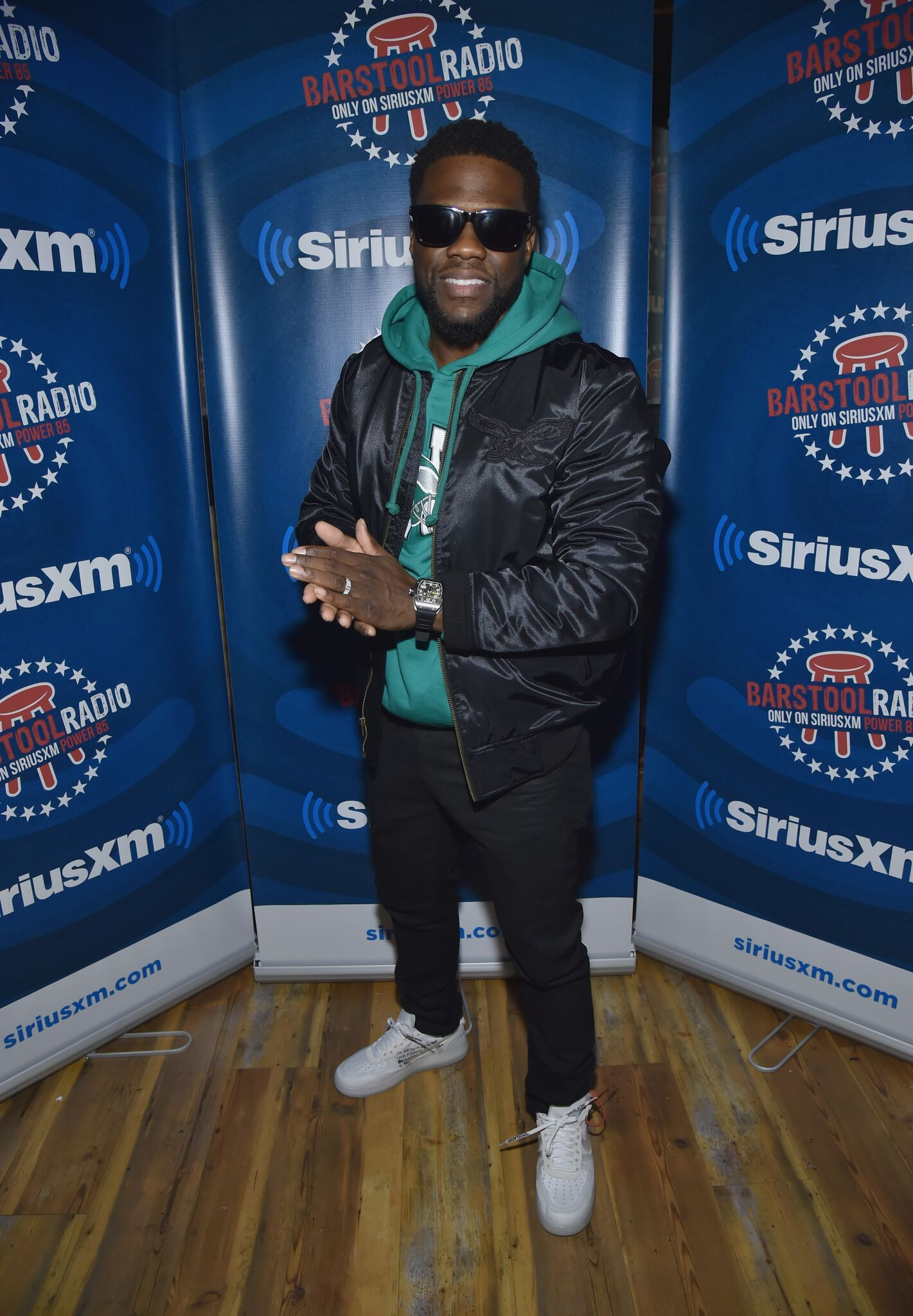 Kevin Hart attends Kevin Hart Live on Barstool Radio on SiriusXM at Super Bowl LII on February 2, 2018 in Minneapolis, Minnesota. l Getty Images