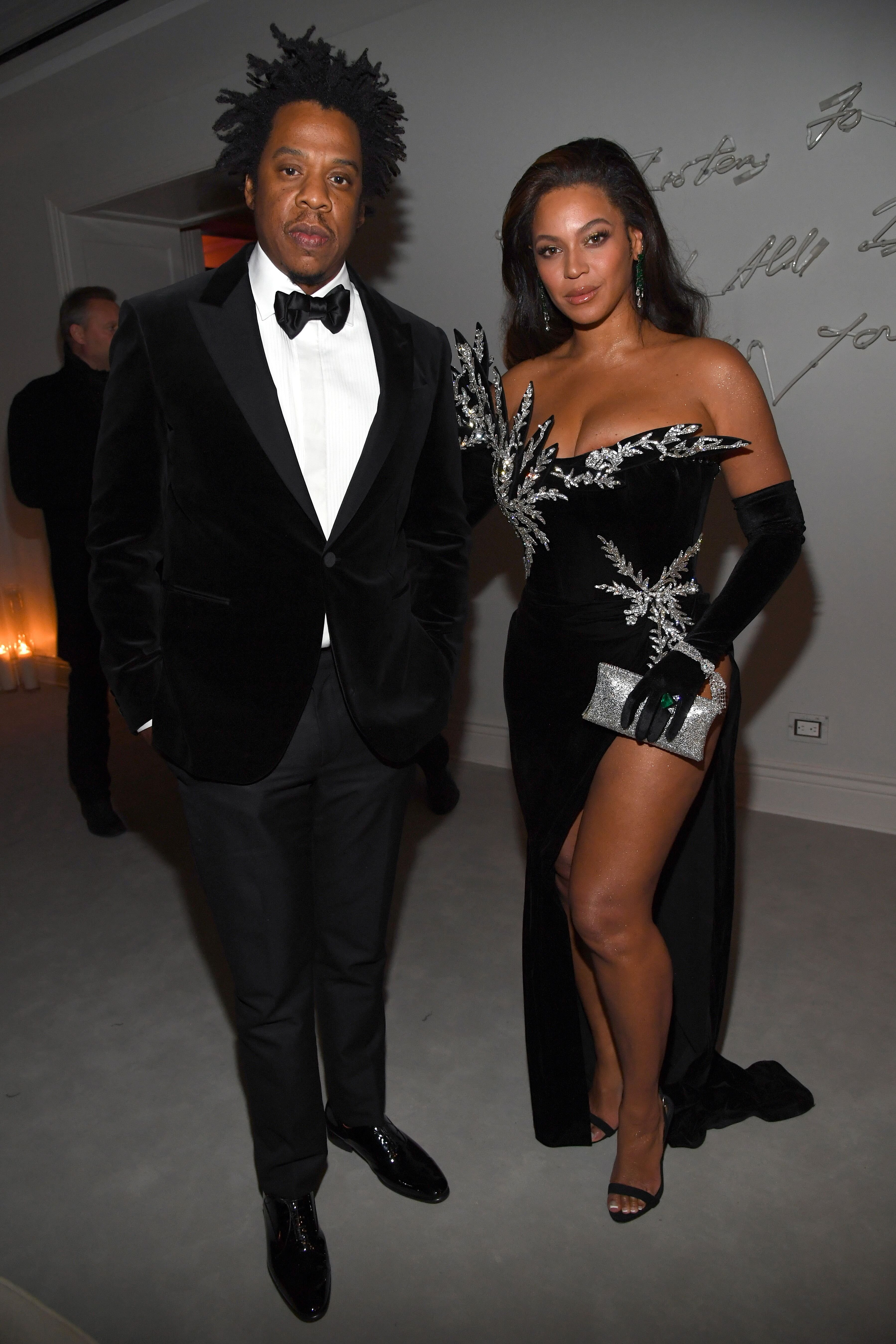 "Beyoncé and Jay-Z at Sean ""Diddy"" Combs' 50th birthday party/ Source: Getty Images"