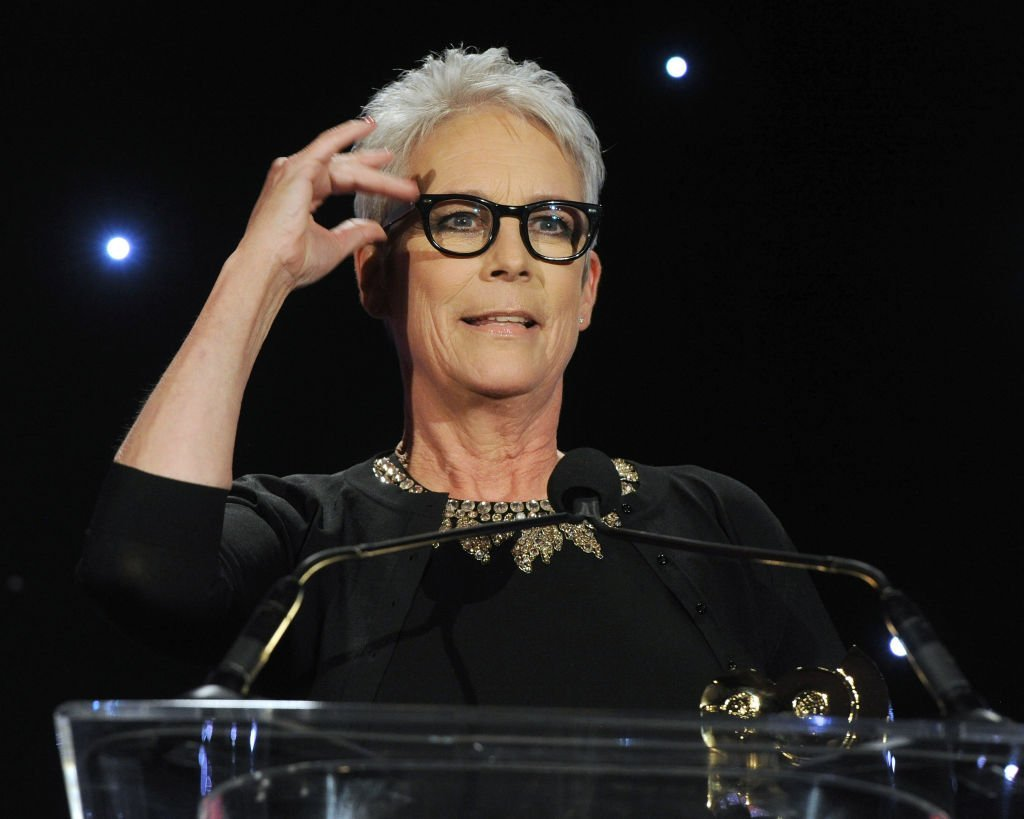 Jamie Lee Curtis accepts the SOC's President's Award at The Society of Camera Operators Lifetime Achievement Awards 2020 held at Loews Hollywood Hotel on January 18, 2020. | Photo: Getty Images