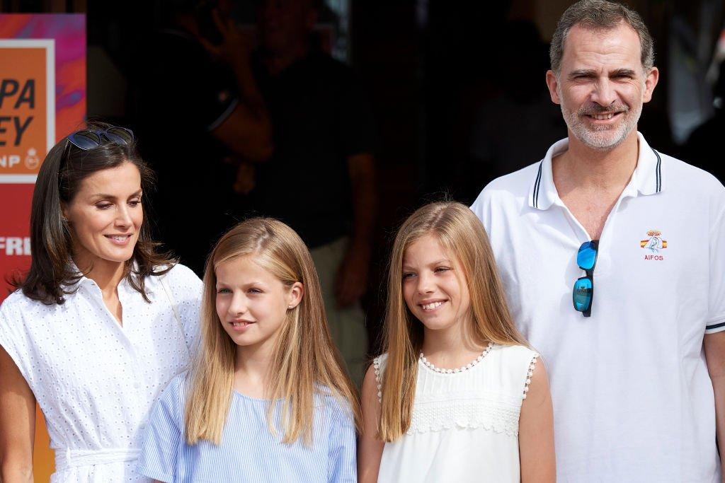 La Reina Letizia de España, Princesa Leonor, Princesa Sofía y el Rey Felipe VI.| Fuente: Getty Images