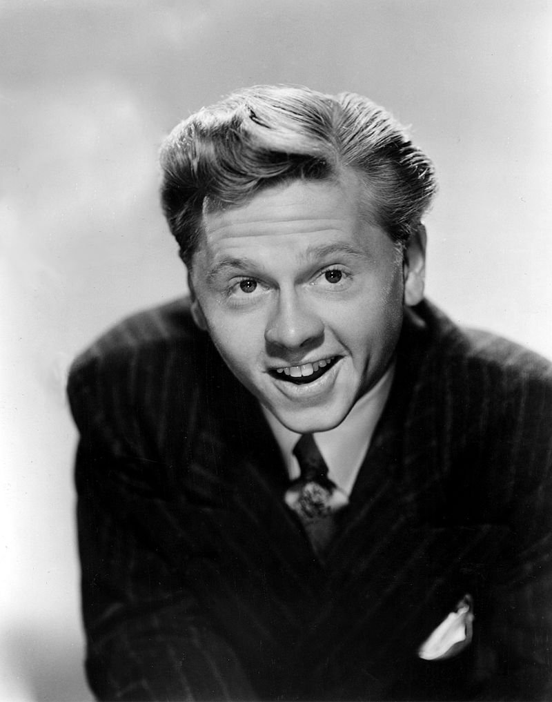 Mickey Rooney in 1945   Source: Wikimedia Commons/Studio publicity still of Mickey Rooney still, marked as public domain