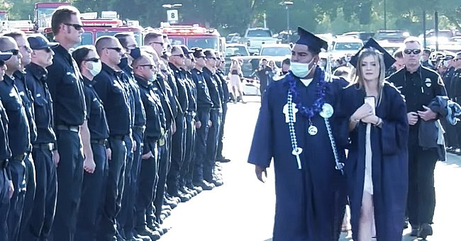 Slain Firefighter's Daughter Goes to Graduation in His Jacket and Escorted by His Colleagues