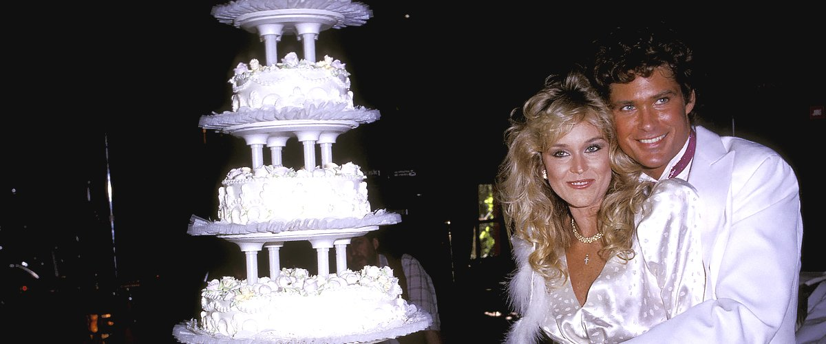 David Hasselhoff and Catherine Hickland during their wedding ceremony | Photo: Getty Images