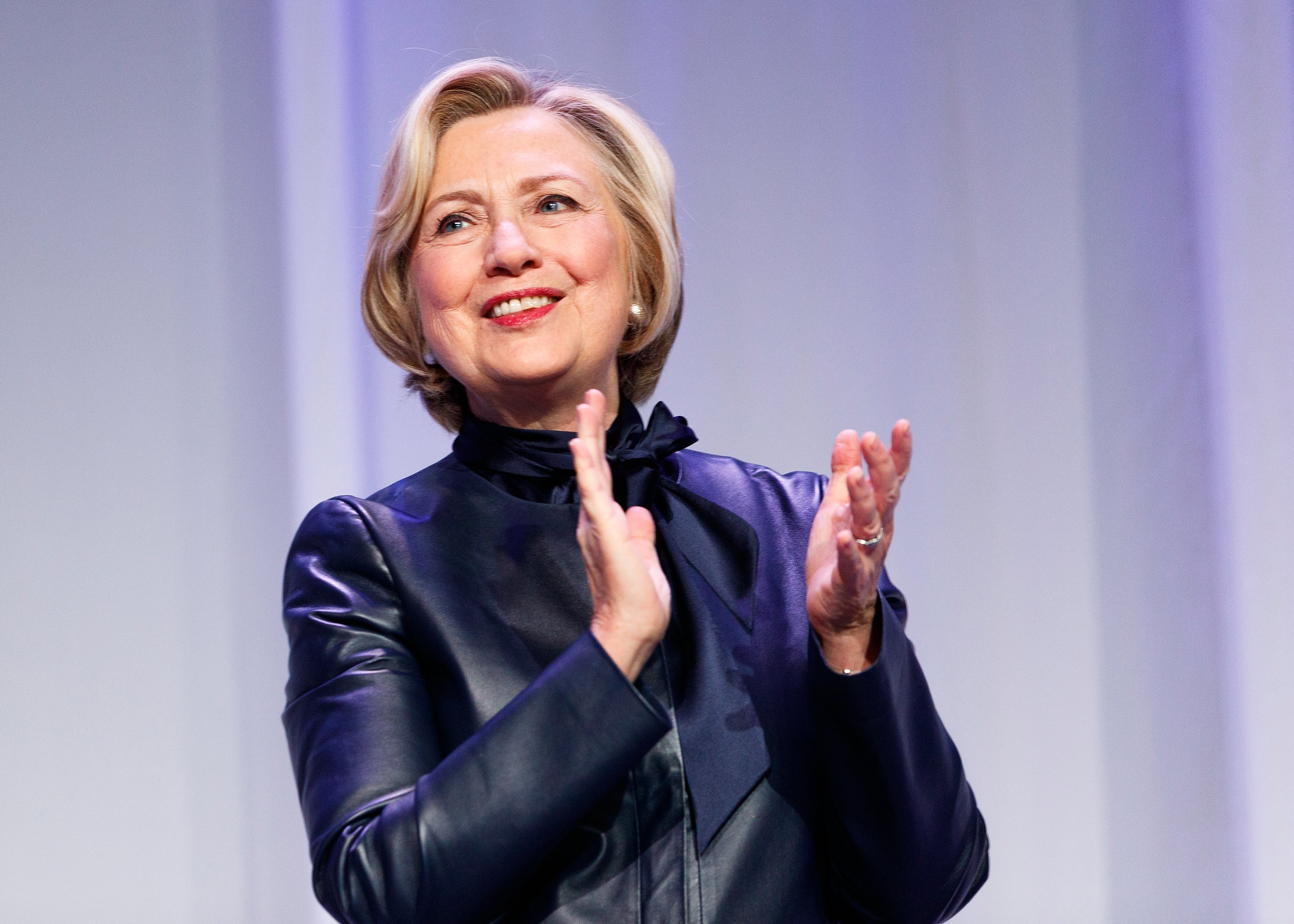 """Hillary Clinton during her """"What Happened"""" book tour in Vancouver, Canada 