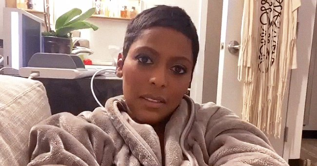 Tamron Hall's Son Moses Sits On Her Lap in a Printed Robe after His Hour-Long Surgery (Photo)