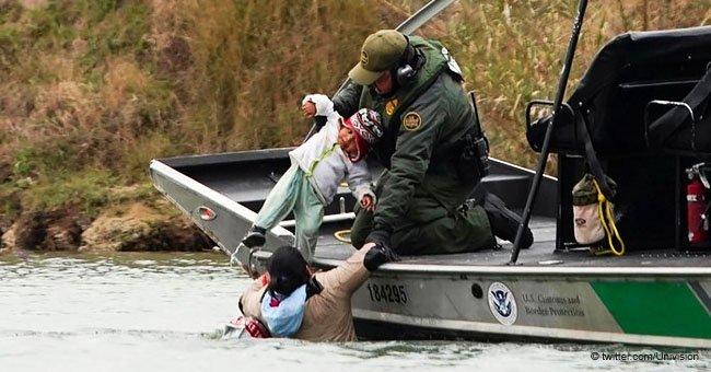 Bebé fue rescatado de gélidas aguas mientras sus padres intentaban cruzar la frontera de EEUU
