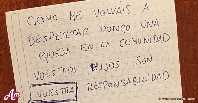 Contundente respuesta de un padre a su vecino que le dejó una nota por el llanto de su bebé