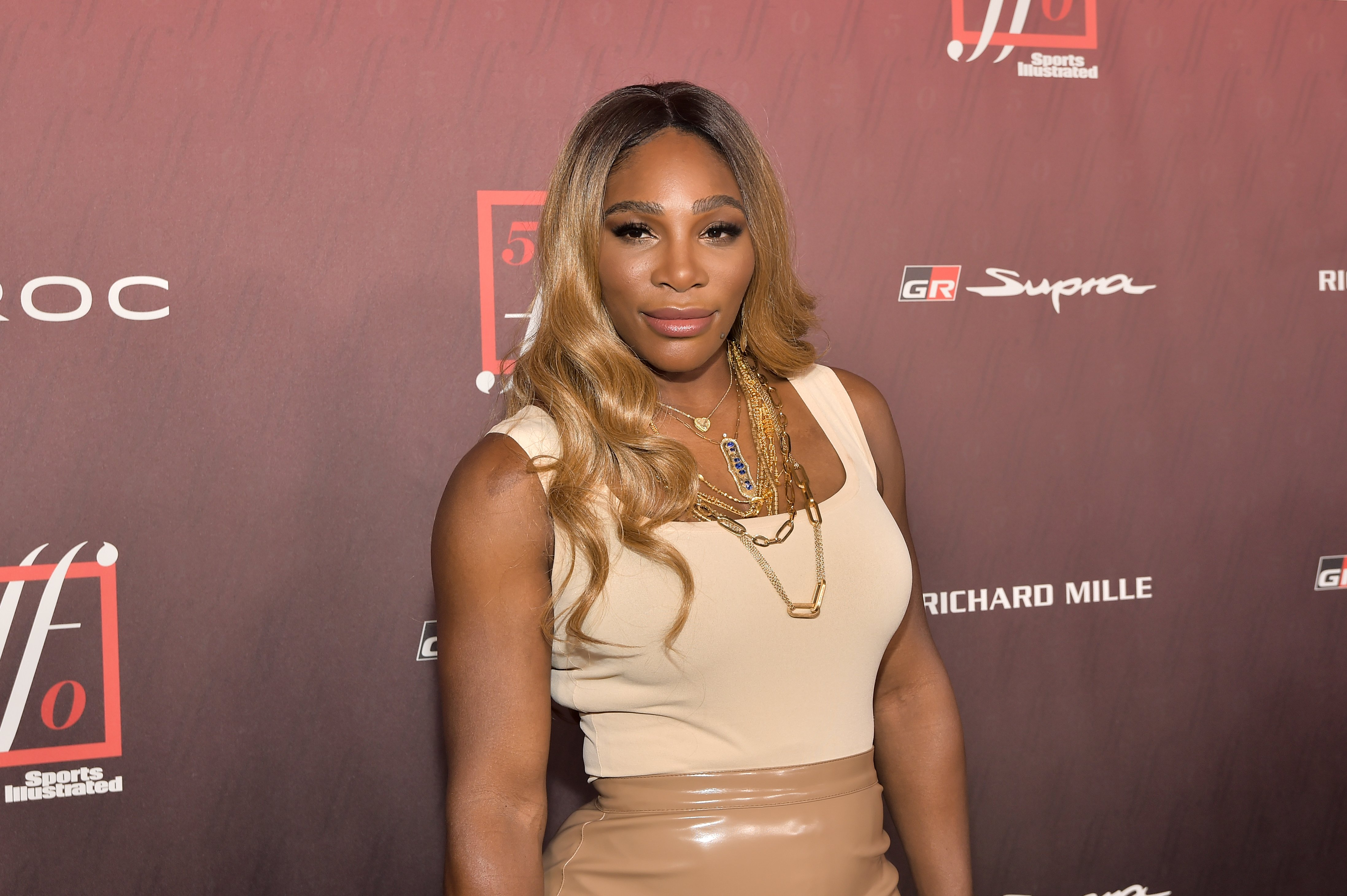 Serena Williams attending the launch of the Sports Illustrated Fashionable 50 issue at the Sunset Room on July 18, 2019 in Los Angeles. | Source: Getty Images