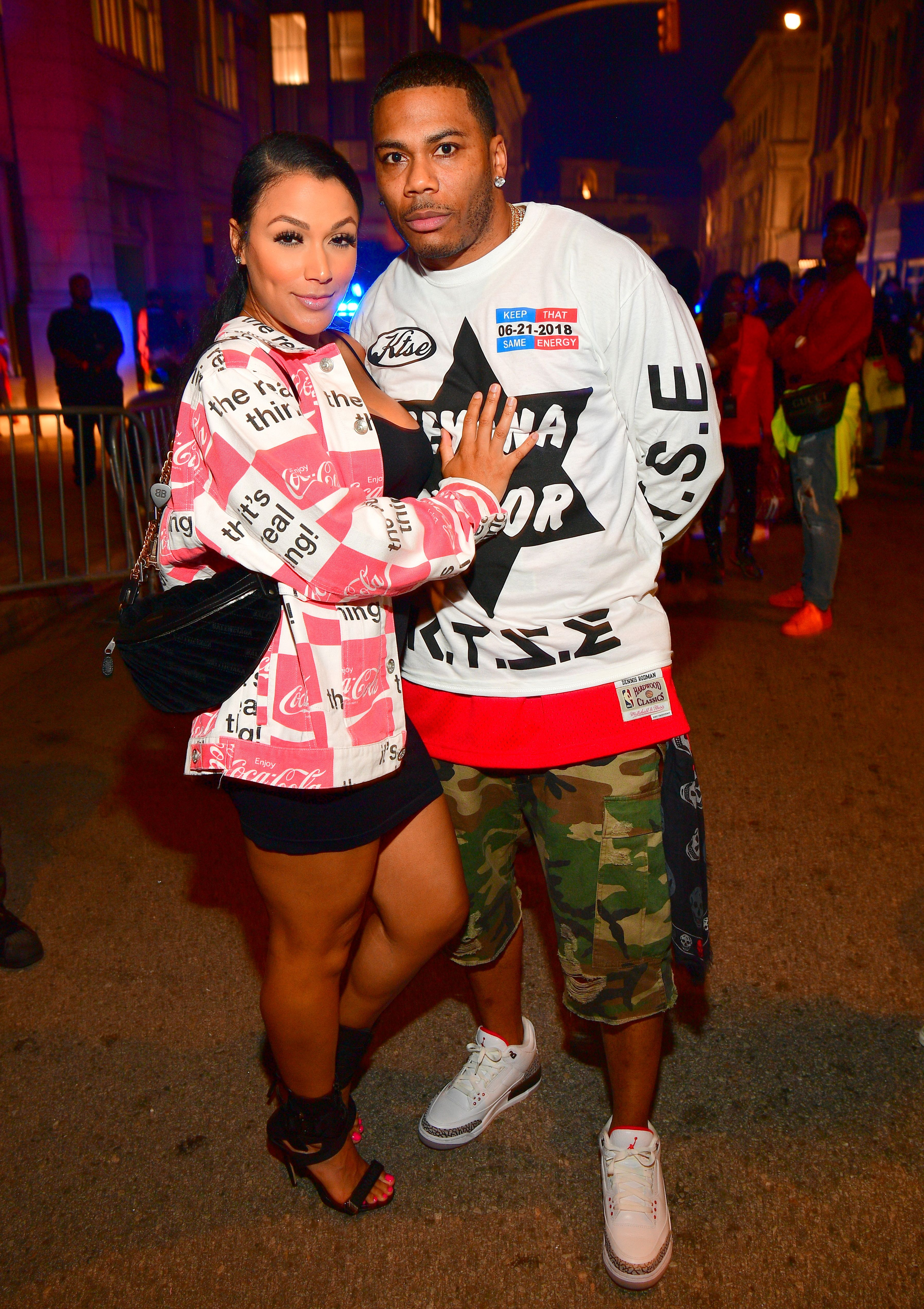 Shantel Jackson and Nelly at the Teyana Taylor album release party at Universal Studios Hollywood on June 21, 2018 in Universal City, California. | Source: Getty Images