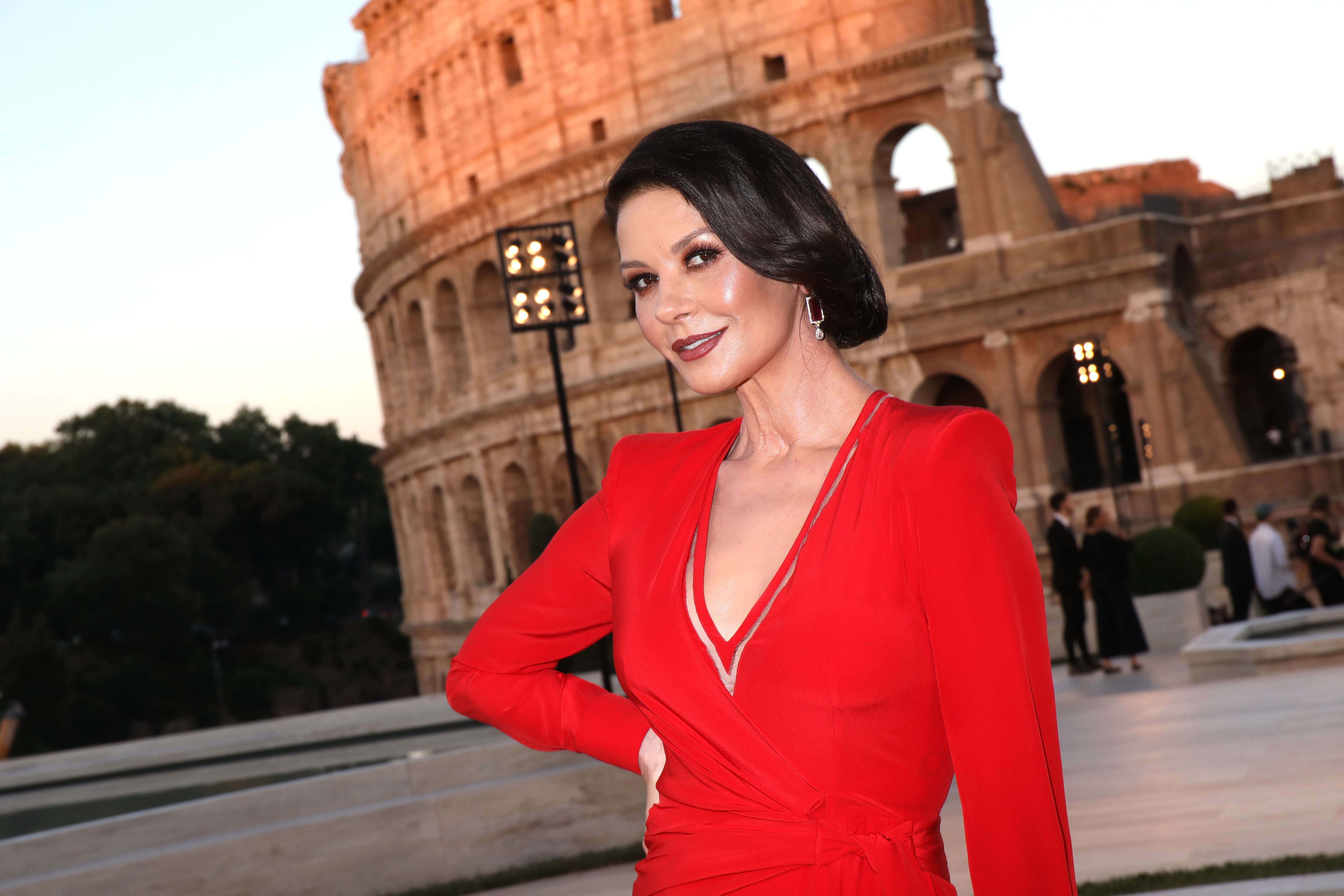 Catherine Zeta-Jones athe at Fendi Couture Fall Winter 2019/2020 in Rome, Italy   Photo: Getty Images
