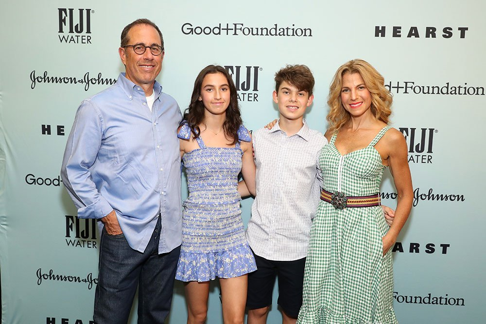 Jerry, Sascha, Shepherd, and Jessica Seinfeld. I Image: Getty Images.