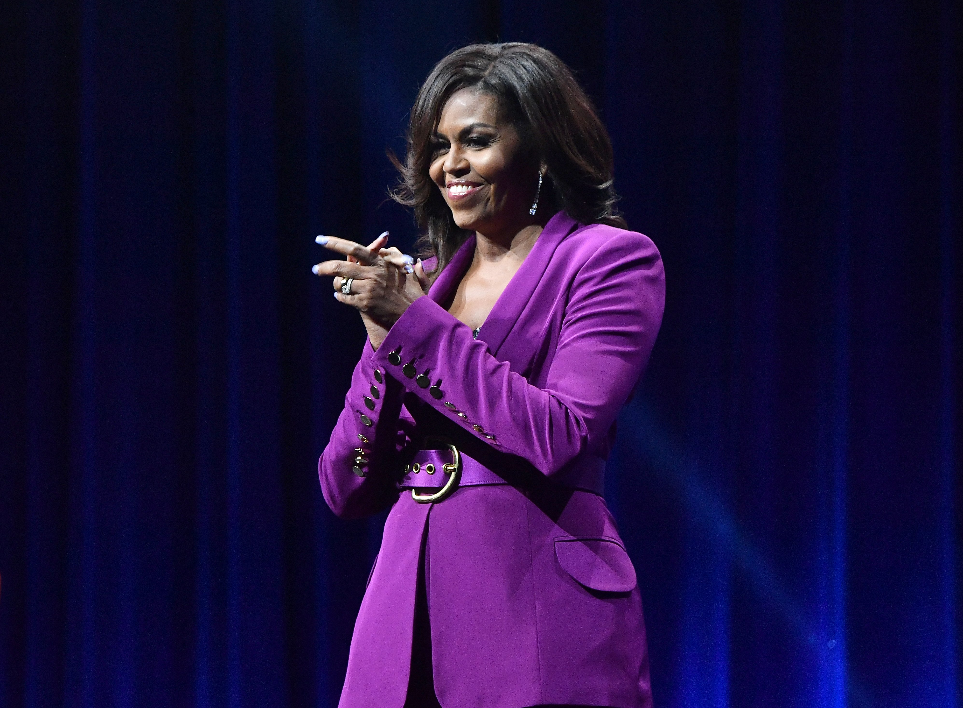 Lady Michelle Obama attends 'Becoming: An Intimate Conversation with  Obama' at State Farm Arena on May 11, 2019 | Photo: GettyImages